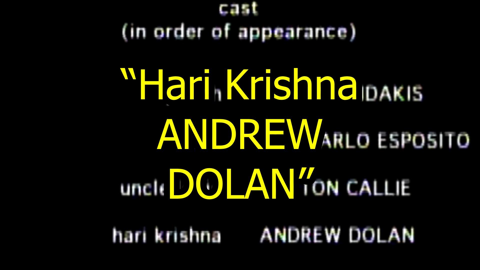 Hare Krishna in the Movies